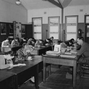 Classroom, 1951–1953. National Archives of Australia, A1811, CU1799/3.
