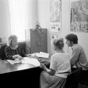 Department of Immigration officers, Maggie Bowden-Smith, Manchester Counselling, 1984. Department of Immigration and Multicultural and Indigenous Affairs. National Archives of Australia, A12111, 2/1984/14A/205.